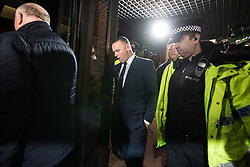 © Licensed to London News Pictures . 18/09/2017 . Stockport , UK . Everton footballer WAYNE ROONEY arrives at Stockport Magistrates Court where he faces a drink-driving charge . The former England and Manchester United captain was arrested by police whilst driving in Wilmslow in Cheshire during the early hours of 1st September . Photo credit: Joel Goodman/LNP