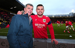 Bailey Wright of Bristol City presents a shirt to Jerry Tocknell as he attends his 900th away game - Mandatory by-line: Robbie Stephenson/JMP - 06/01/2018 - FOOTBALL - Vicarage Road - Watford, England - Watford v Bristol City - Emirates FA Cup third round proper