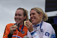 Women time trial, Anna Van der Breggen (Netherlands) silver medal medal, Ellen van Dijk (Netherlands) gold medal during the Road Cycling European Championships Glasgow 2018, in Glasgow City Centre and metropolitan areas Great Britain, Day 7, on August 8, 2018 - Photo Laurent Lairys / ProSportsImages / DPPI