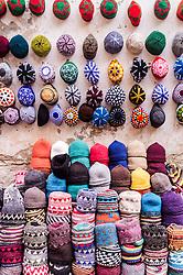 Hats for sale, Essaouira, Morocco.