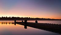 Sunrise on a warm Summer morning on Hebgen Lake in Southwestern Montana.