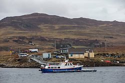 Looking from the island towards the ferry area on the Isle of Mull. Feature on the community on the island of Ulva, who have been awarded £4.4m in funding for their island buyout.
