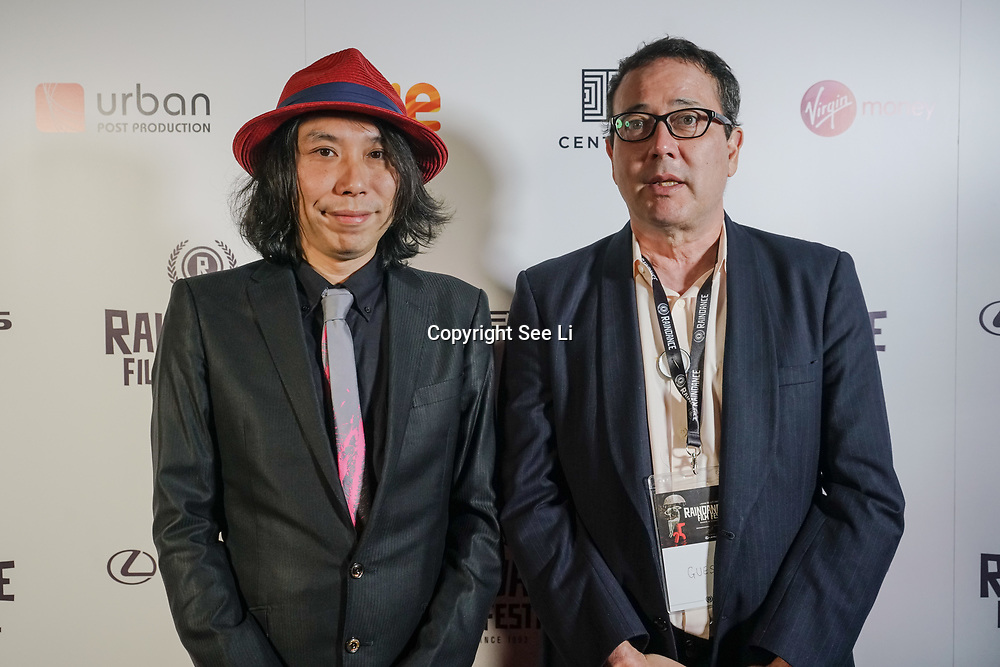 London, England, UK. 25th September 2017. Mike Rogers and Ken Nishikawa of Ghostroads attend Raindance Film Festival Screening at Vue Leicester Square, London, UK