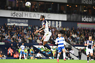 West Bromwich Albion defender Darnell Furlong (2) heads the ball during the EFL Sky Bet Championship match between West Bromwich Albion and Queens Park Rangers at The Hawthorns, West Bromwich, England on 24 September 2021.