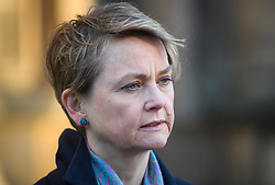 © Licensed to London News Pictures. 28/01/2019. London, UK. Labour MP YVETTE COOPER is seen talking to media outside the Houses of Parliament . MPs on Tuesday will vote on a series of amendments to the PM's plans that could shape the future direction of Brexit.. Photo credit: Ben Cawthra/LNP