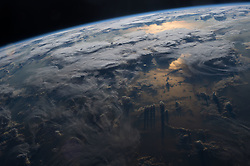 March 28, 2016 - Earth Atmosphere - Members of the International Space Station Expedition 47 crew took in the beauty of our planet on Mar. 3, 2016 as dusk falls over the oceans. NASA astronaut Jeff Williams took this majestic image. (Credit Image: ? NASA/ZUMA Wire/ZUMAPRESS.com)