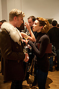 GRACE BROWNE; HENRY CONWAY, THE LAUNCH OF THE KRUG HAPPINESS EXHIBITION AT THE ROYAL ACADEMY, London. 12 December 2011.