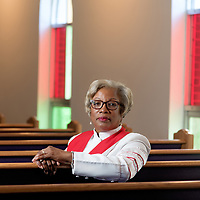 Rev. Dr. Patricia Freeman photographed at St. Phillip AME (African Methodist Episcopal) Church in Wilmington, N.C.<br /> <br /> Photo by Michael Cline Spencer