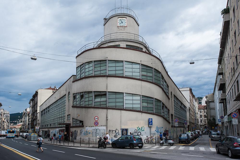 Exterior of the Mercado Coperto (indoor market) in Trieste, Italy