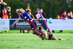Claire Molloy of Bristol Ladies is tackled by Tova Derk of Wasps Ladies - Mandatory by-line: Craig Thomas/JMP - 28/10/2017 - RUGBY - Cleve RFC - Bristol, England - Bristol Ladies v Wasps Ladies - Tyrrells Premier 15s