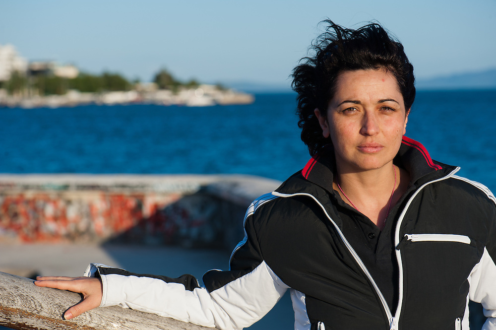 Member of the TEM  committee (local alternative currency  of Volos) in the port of Volos. Dimitra Dodi 36