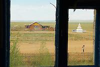 Mongolie. Provinvce du Khentii. Village de Norovlin. // Mongolia. Khentii province. Norovlin village.