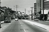 1973 Looking east on Sunset Blvd. towards La Cienega Blvd.