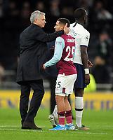 Football - 2019 / 2020 Premier League - Tottenham Hotspur vs. Burnley<br /> <br /> Spurs Manager, Jose Mourinho consoles Burnley's Aaron Lennon after the match at the Tottenham Hotspur Stadium.<br /> <br /> COLORSPORT/ANDREW COWIE
