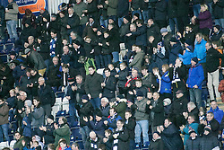 South stand after Bob McHugh scored their fourth goal. <br /> Falkirk 5 v 0 Alloa Athletic, Scottish Championship game played at The Falkirk Stadium. © Ross Schofield