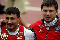 Friidrett , 12. juli 2006 , Gøteborg , EM ,<br /> Europamesterskapet ,<br /> Athletics , European  Championship <br /> Ivan Tikhon , BLR og Vadim Devyatovski , BLR i slegge