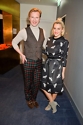 HENRY CONWAY and ASHLEY ROBERTS at a private screening of Eating Happiness in association with the World Dog Alliance held at Mondrian London, 20 Upper Ground, London on 25th January 2016.