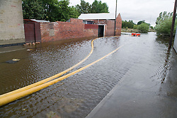 High Volume Pump (HVP) used to drain away flood water and dump it into nearby rivers and lakes following the floods at Toll Bar; South Yorkshire; July 2007,