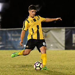 BRISBANE, AUSTRALIA - APRIL 13:  during the NPL Queensland Senior Men's Round 4 match between Olympic FC and Moreton Bay Jets at Goodwin Park on April 13, 2017 in Brisbane, Australia. (Photo by Patrick Kearney/Olympic FC)