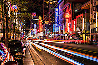 Nightlife on Granville Street, Vancouver