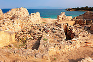 The Greek archaeological site of Ancient Aegina, Kolna, Greek Saronic Islands ..<br /> <br /> If you prefer to buy from our ALAMY PHOTO LIBRARY  Collection visit : https://www.alamy.com/portfolio/paul-williams-funkystock/aegina-greece.html <br /> <br /> Visit our ANCIENT GREEKS PHOTO COLLECTIONS for more photos to download or buy as wall art prints https://funkystock.photoshelter.com/gallery-collection/Ancient-Greeks-Art-Artefacts-Antiquities-Historic-Sites/C00004CnMmq_Xllw