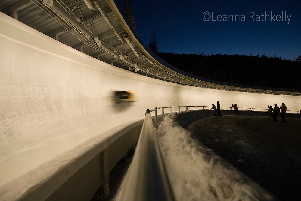 The Mens' two-person bobsleigh World Cup competition held at the Whistler Sliding Centre on Feb 6, 2009