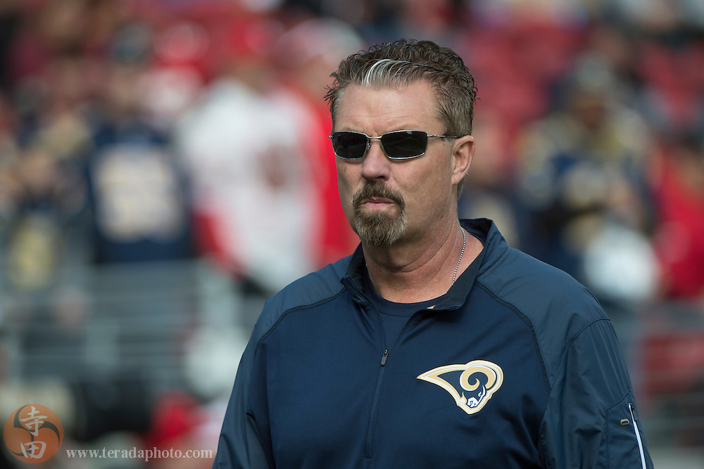 January 3, 2016; Santa Clara, CA, USA; St. Louis Rams defensive coordinator Gregg Williams before the game against the San Francisco 49ers at Levi's Stadium. The 49ers defeated the Rams 19-16.