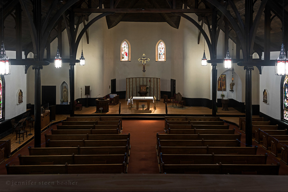 Windows 1 and 2 on plan.<br /> <br /> Holy Redeemer Catholic Church, Bar Harbor, Maine.