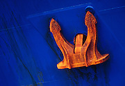 Image of an anchor on a freighter at the Port of Seattle, Washington state, Pacific Northwest by Randy Wells