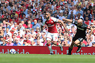 Arsenal forward ALexandre Lacazette (9) during the Premier League match between Arsenal and West Ham United at the Emirates Stadium, London, England on 22 April 2018. Picture by Bennett Dean.