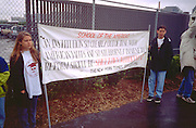 Youth activists age 16 protesting School of Americas 4/28/97.  Washington DC USA