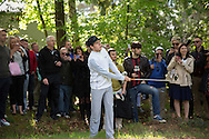 Niall Horan chips out of the rough at the BMW PGA Championship Celebrity Pro-Am Challenge at the Wentworth Club, Virginia Water, United Kingdom on 20 May 2015