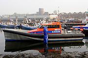 Koningin Máxima heeft in IJmuiden de Nh1816, een nieuw type reddingboot van de Koninklijke Nederlandse Redding Maatschappij (KNRM) gedoopt.<br /> <br /> Queen Máxima has inaugurated in IJmuiden Nh1816, a new type of lifeboat of the Royal Dutch Rescue Organisation (KNRM).<br /> <br /> Op de foto / On the photo: