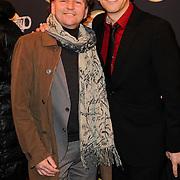 NLD/Amsterdam/20120217 - Premiere Saturday Night Fever, Dick Cohen en partner Daan Wijnands
