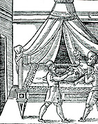 Illustration of birth by caesarian section from Scipione Mercurio 'La Commare o Raccoglitrice ...' Verona, 1642. Mercurio recommended caesarian section in cases of contracted pelvis.  This important Italian work on obstetrics was first published in 1596.