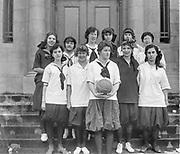 """Girls basketball squad. January 1916"""