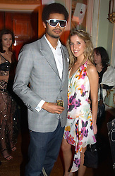 MISS AYESHA MAKIM niece of Sarah, Duchess of York and STEVE WOOD at a party to celebrate Pamela Anderson's new role as spokesperson and newest face of the MAC Aids Fund's Viva Glam V Campaign held at Home House, Portman Square, London on 21st April 2005.<br /><br />NON EXCLUSIVE - WORLD RIGHTS