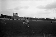 17/02/1963<br /> 02/17/1963<br /> 17 February 1963<br /> Soccer: Transport v Cobh Ramblers at Harold's Cross, Dublin.<br /> McDonagh of Ramblers goes up against the Transport forward.
