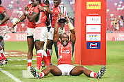 Kenya team group (KEN), APRIL 17, 2016 - Rugby : Players of Kenya celebrate after winning the HSBC Sevens World Series, Singapore Sevens match Kenya and Fiji (Cup Finals) at National Stadium in Singapore. (Photo by Haruhiko Otsuka/AFLO)