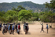 Nuba volunteers train at the outbreak of the war, today these troops have graduated and are fighting on the frontline.