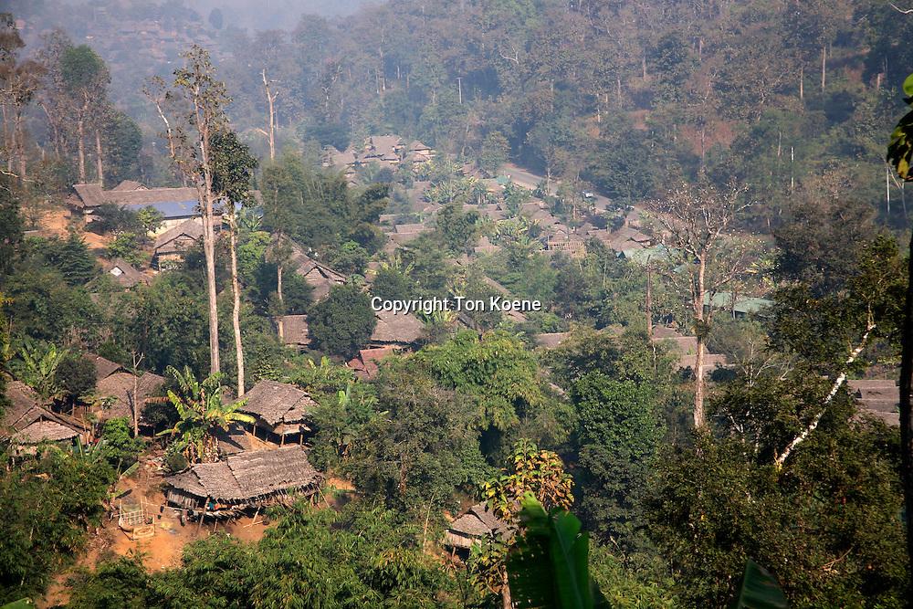 village of the Karen tribe in Thailand