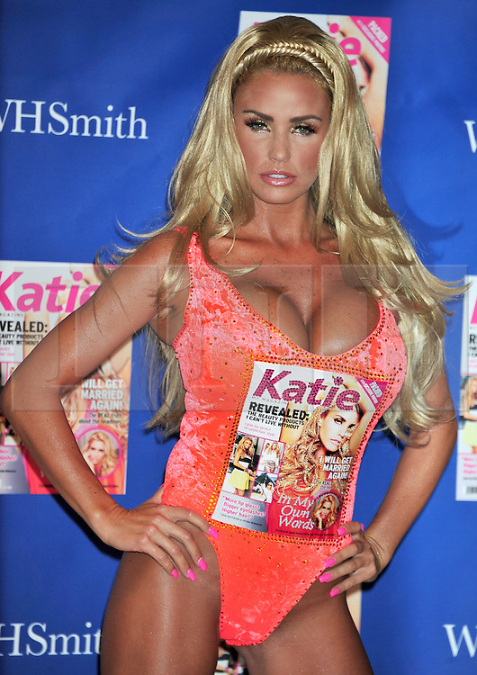 """© Licensed to London News Pictures. 07/09/2011. London, England. Katie Price launches her new magazine titled """"KATIE"""" in London today . Photo credit : ALAN ROXBOROUGH/LNP"""