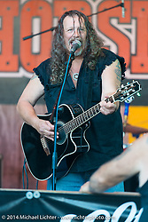 JB Walker performing with his Cheap Whiskey Band at the Iron Horse Saloon during Biketoberfest, Ormond Beach, FL, October 17, 2014, photographed by Michael Lichter. ©2014 Michael Lichter