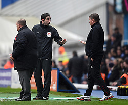 Fourth official Christopher Kavanagh maintains discipline on the side-line at St Andrew's Stadium - Photo mandatory by-line: Paul Knight/JMP - Mobile: 07966 386802 - 03/04/2015 - SPORT - Football - Birmingham - St Andrew's Stadium - Birmingham City v Rotherham United - Sky Bet Championship