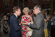 GEORDIE GREIG; HARRIET SERGEANT; DOMINIC LAWSON, V & A Summer party. South Kensington. London. 22 June 2016