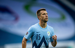 Damjan Bohar of Slovenia reacts after scoring first goal for Slovenia during the UEFA Nations League C Group 3 match between Slovenia and Moldova at Stadion Stozice, on September 6th, 2020. Photo by Vid Ponikvar / Sportida