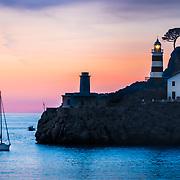 Soller lighthouse bay in Palma de Mallorca.