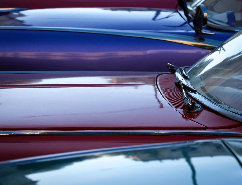 HAVANA, CUBA - CIRCA JANUARY 2020: Detail of old  classic cars in Havana.