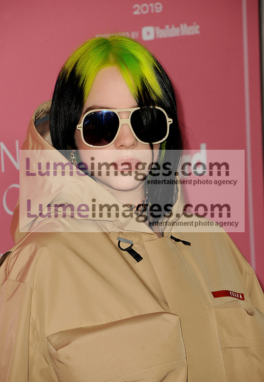 Billie Eilish at the 2019 Billboard Women In Music held at the Hollywood Palladium in Hollywood, USA on December 12, 2019.