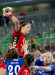 Andrea Penezic of Krim  during handball match between RK Krim Mercator (SLO) and RK Podravka Vegeta (CRO) in Women's EHF Champions League, on November 13, 2010 in Arena Stozice, Ljubljana, Slovenia. (Photo By Vid Ponikvar / Sportida.com)